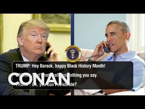 Trump Calls Obama To Talk Black History Month In Conan O'Brien's Latest Politically-Fueled Skit