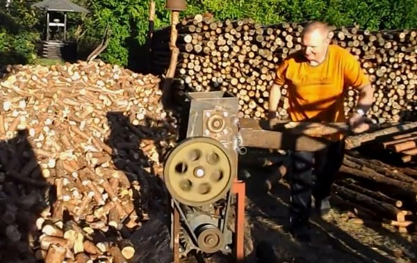 Crazy Firewood Chopper (Video)